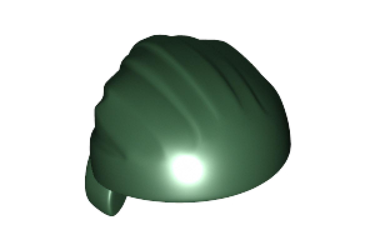 Headgear Hat, Cloth Wrap / Bandana, Rounded Top Dark Green
