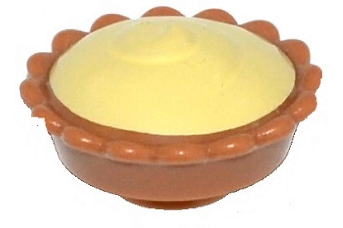 Pie with Bright Light Yellow Cream Filling Pattern