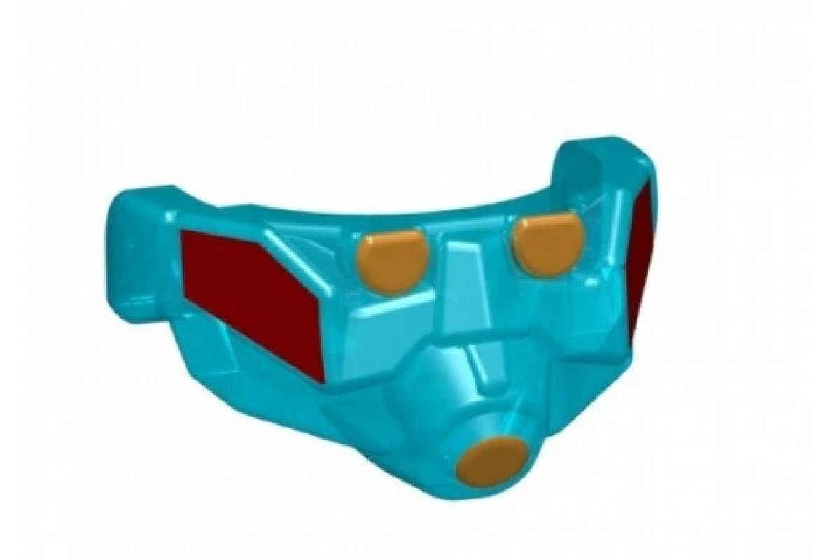 Apoc Mask - Trans Light Blue (Red/Gold)