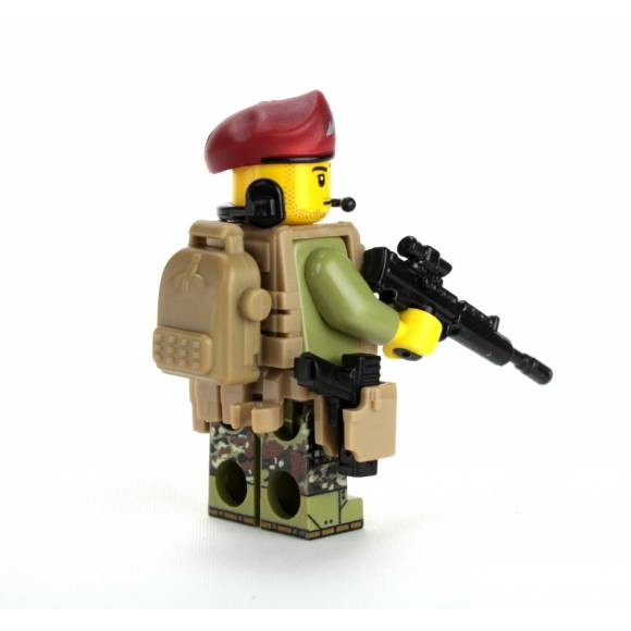 British Paratrooper Battle Brick Custom Minifigure