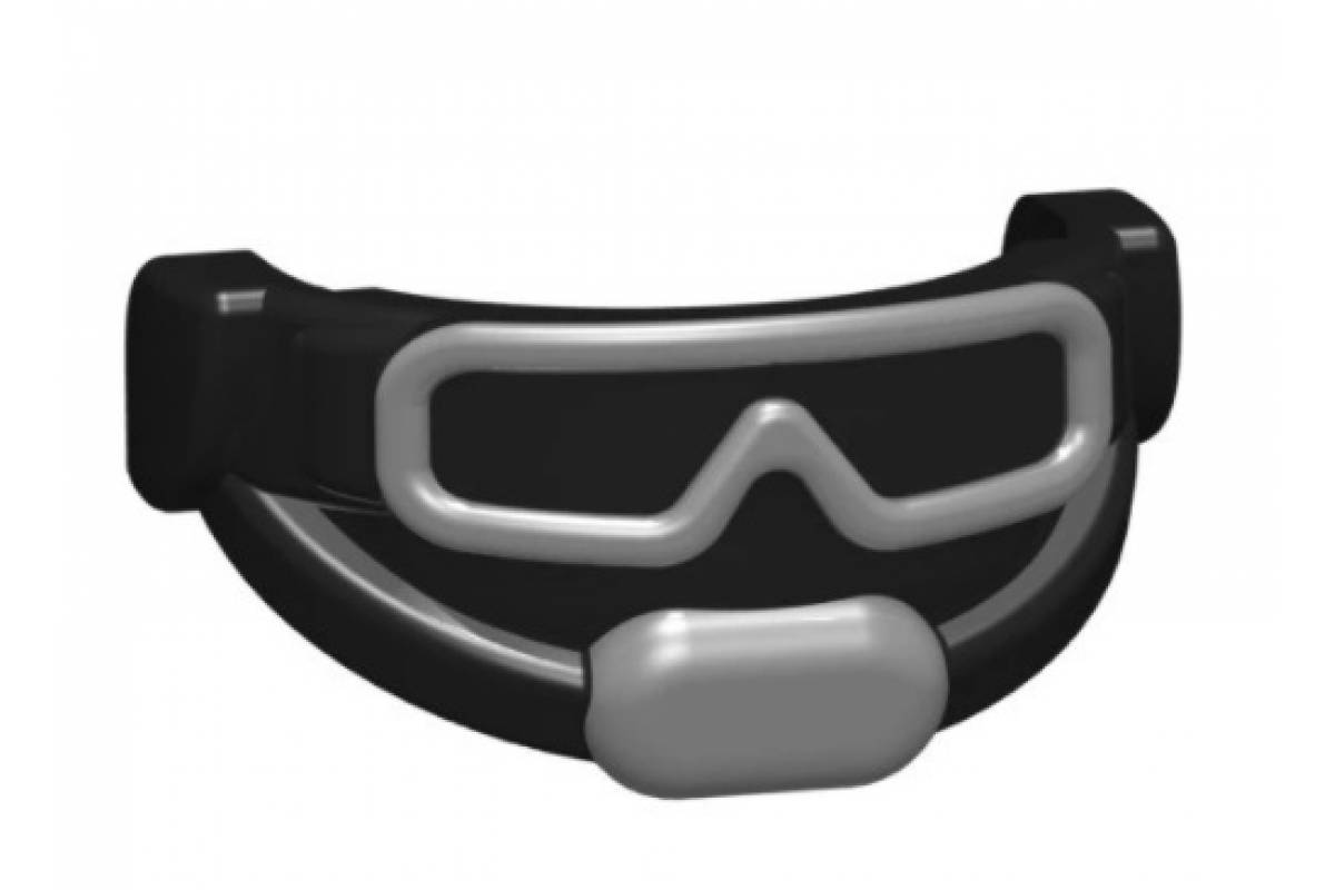 Tactical Goggles - Trans Clear (Black/Silver)