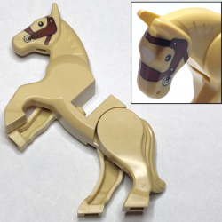 Horse, Movable Legs with Black Eyes, White Pupils