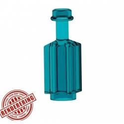 Квадратная бутылка прозрачно-голубая