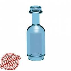 Круглая бутылка синия