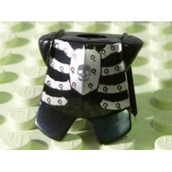 Armor Breastplate with Leg Protection, Fantasy Era Skeleton Pattern