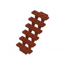 Лестница красно-коричневая