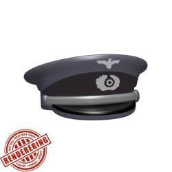 Немецкая офицерская фуражка серая