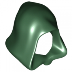 Dark Green Minifigure, Headgear Hood