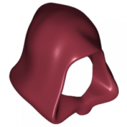 Dark Red Minifigure, Headgear Hood