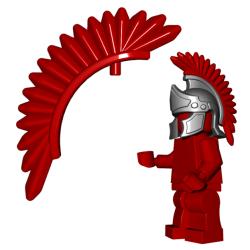 Оперение для шлема Центуриона, красного цвета