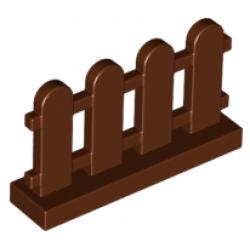 Оградка красно-коричневая
