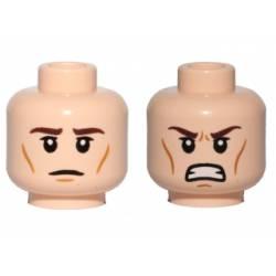 Двойное лицо (злой/спокойный) телесного цвета