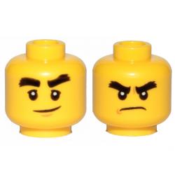 Двойное лицо с широкими черными бровями