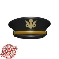 Офицерская фуражка американской армии черная