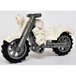 Винтажный мотоцикл белого цвета