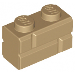 Brick, Modified 1 x 2 with Masonry Profile Dark Tan