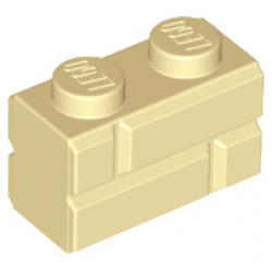 Brick, Modified 1 x 2 with Masonry Profile  Tan