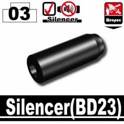 Глушитель BD23 черный