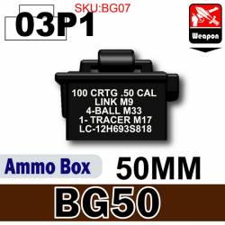 Ammo Box(BG50)03P1-50mm Black