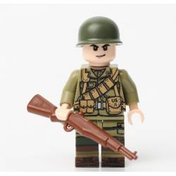 WWII US Ranger with M1 Rifle (Brickpanda)
