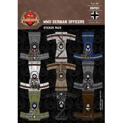 Наклейки немецких офицеров Второй Мировой