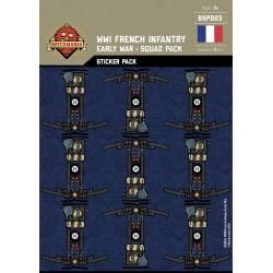 Наклейки французской пехоты Первой Мировой