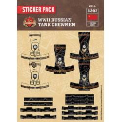 WWII Russian Tank Crewmen - Sticker Pack