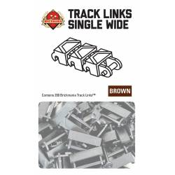 Brickmania Track Links™ - Chevron Single Wide - Brown