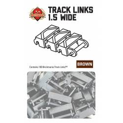 Brickmania Track Links™ - Chevron One and a Half Wide - Brown