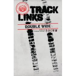 Brickmania Track Links™ - Chevron Double Wide - Brown