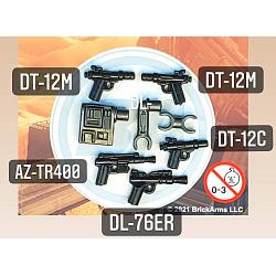 Exo-Pack w/5 Blasters Black