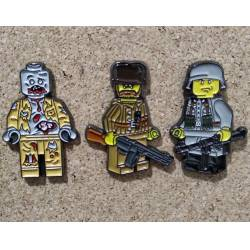 Collector Metal Pins x 3