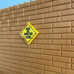 Biohazard Infected zone Sign yellow - tile 2x2