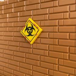 Biohazard Sign yellow - tile 2x2