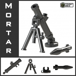Mortar (4 parts): base, tube, legs & round