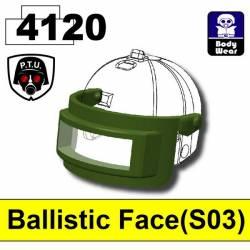 Баллистическая маска S03, зеленого цвета