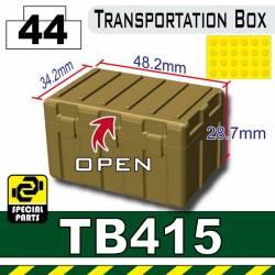 Большой ящик для транспортировки ТБ415 Темно-тановый