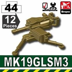 Американский станковый пулемет MK19 темно-тановый
