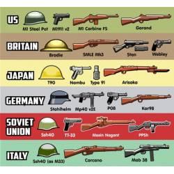 Набор оружия Второй Мировой Войны версия 3
