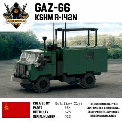 Soviet military truck Gaz 66 Dark Green