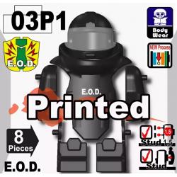 Костюм сапера E.O.D TS70 с принтом, черный