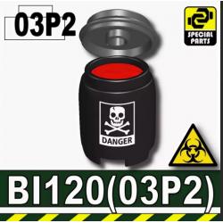 Бочка черного цвета с жидкостью BI120
