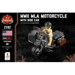 Американский мотоцикл с коляской WLA