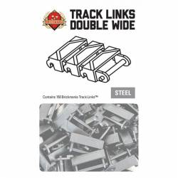 Brickmania Track Links™ - Chevron Double Wide - Black - x150