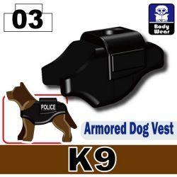 Armored Dog Vest K9 Black