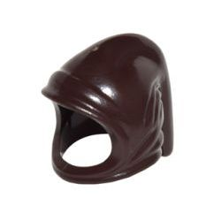 Dark Brown Minifigure, Headgear Hood Farmer's Cowl
