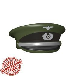 Немецкая фуражка офицера темно-зеленая