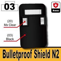 Пуленепробиваемый щит N2 черный