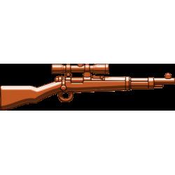 German Kar98 scoped rifle brown