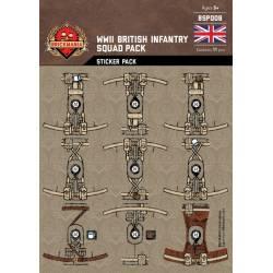"""Наклейки для минифигурок """"Британская пехота Второй Мировой"""""""